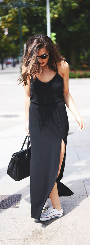 Slip Dress Outfit For 2018 Summer #SummerDress