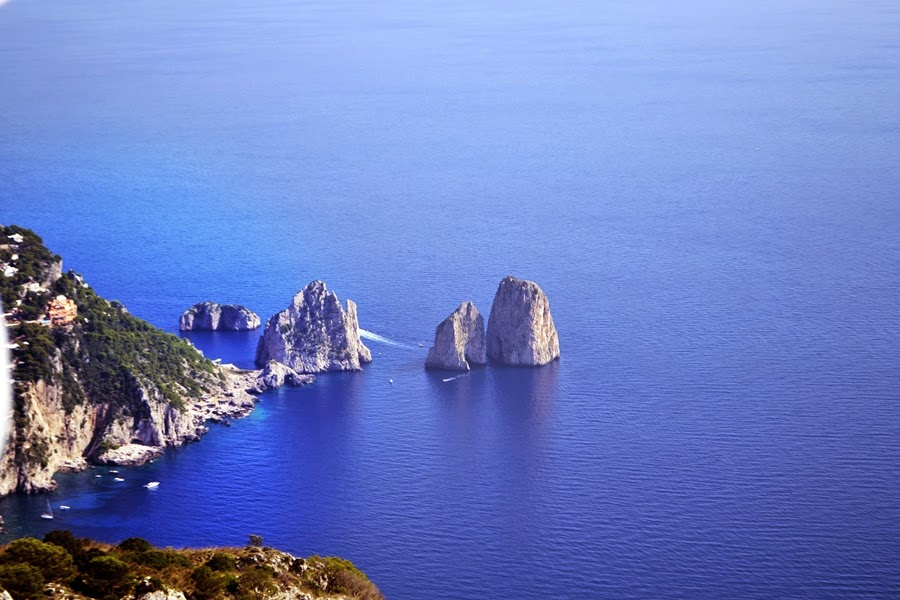 Views of Capri Rock Formations