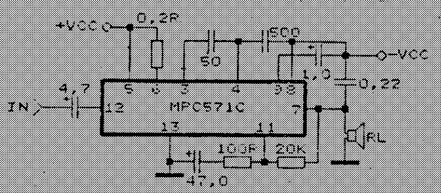 6.5 Watt Amplifier circuit with MPC571C