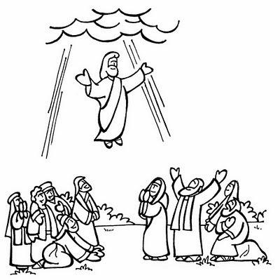 El Renuevo De Jehova: La Ascension de Jesus - Imagenes para colorear ...