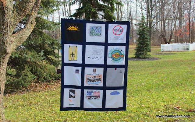 T Shirt Memory Blanket – for a Rower