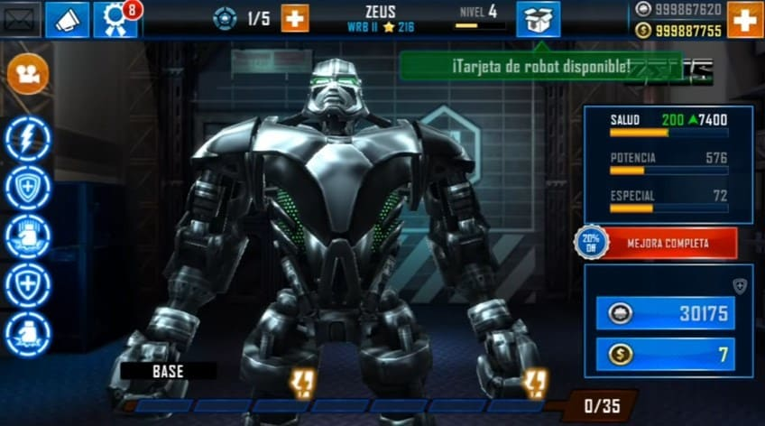Download Real Steel Mod Apk Versi 1.37.1 terbaru + Data Obb Full Unlocked
