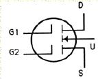 Transistor Symbol - Dual Gate MOSFET – N Channel Enhancement