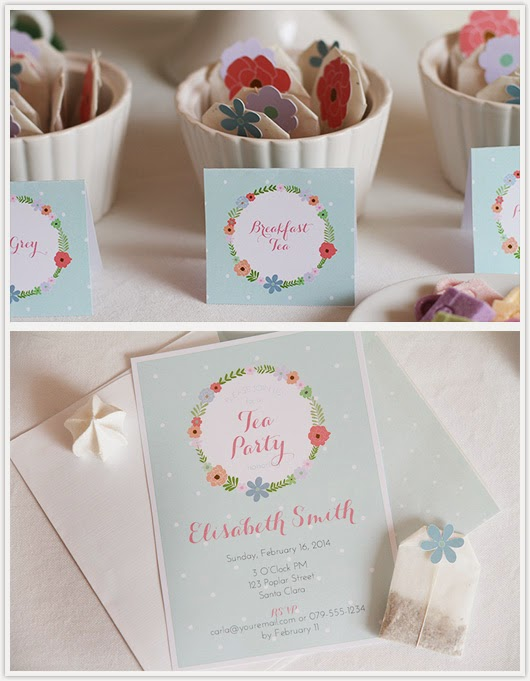 Tent card and invitation by Paper & Party Love