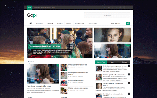 Gaps Free Blogger Template