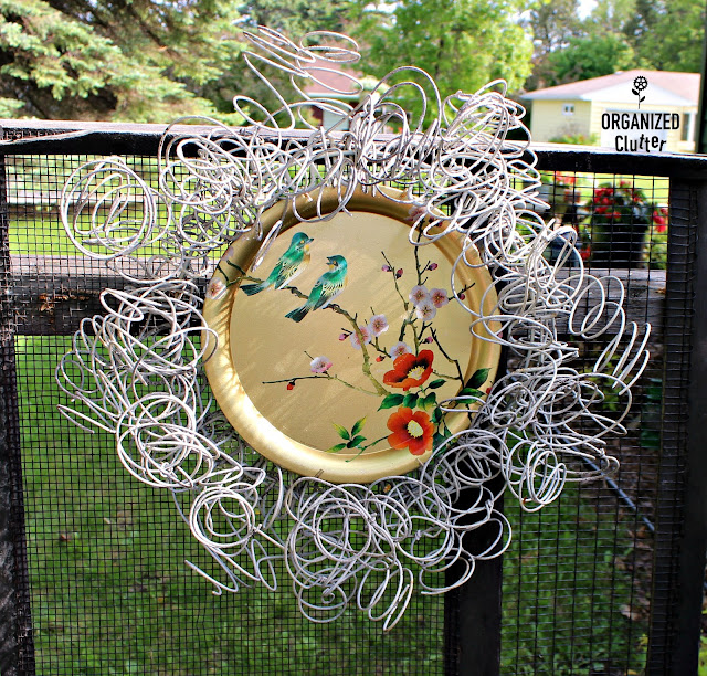 Vintage English Elite Tray & Bed Spring Wreath