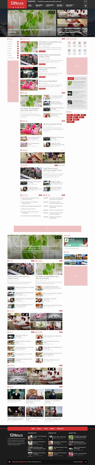 SNews 1.6 Blogger Template