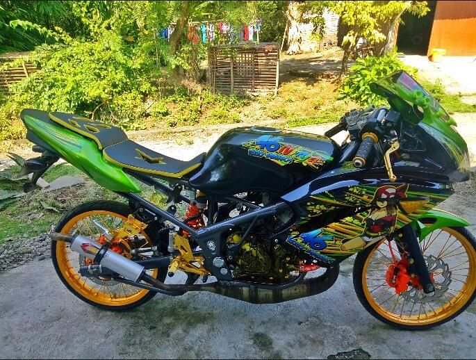 7 Gambar Modifikasi Motor Ninja RR 150 Cc 2 Tak Warna