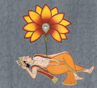 Shiva träumt ein Universum in Form einer Lotusblume