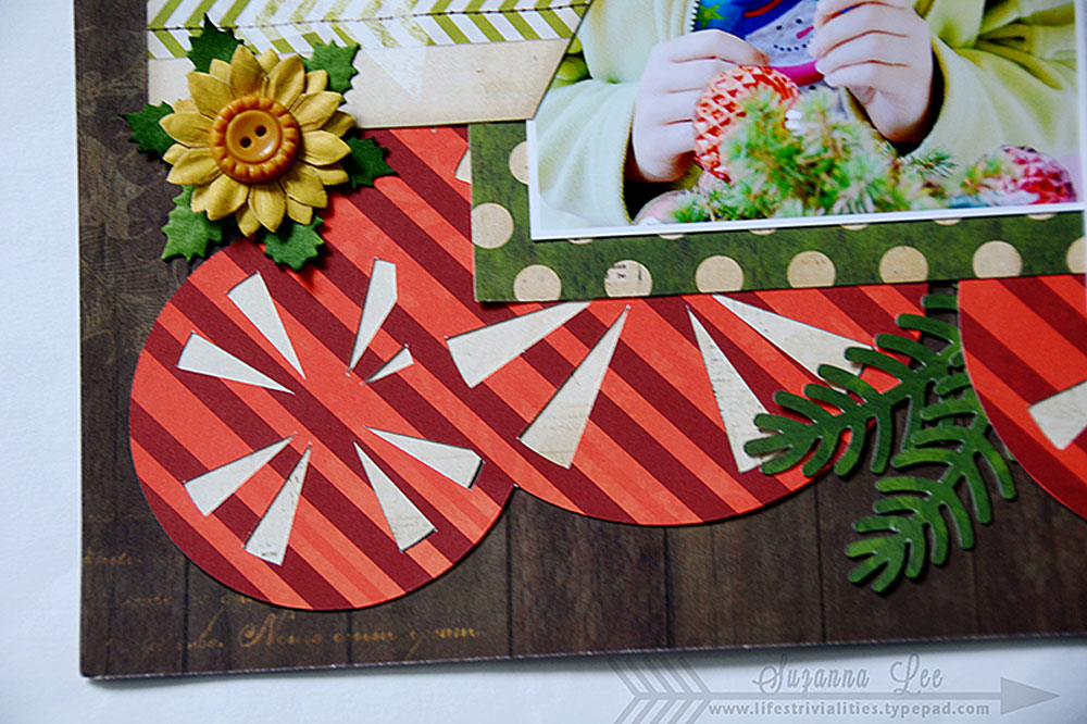 Merry Christmas Scrapbook Page by Suzanna Lee Guest Designer for 17turtles Digital Cut Files