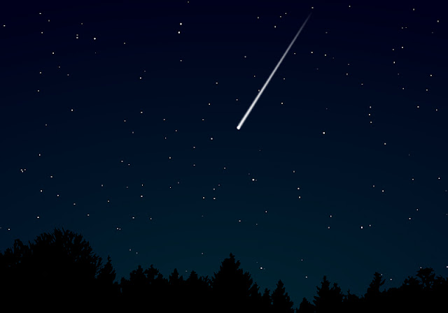 Chuva de meteoros Estrelas cadentes