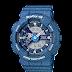 นาฬิกาข้อมูลผู้หญิง CASIO สียีนต์น้ำเงิน นาฬิกา BABY-G BA-110DC-2A2 สายเรซิน