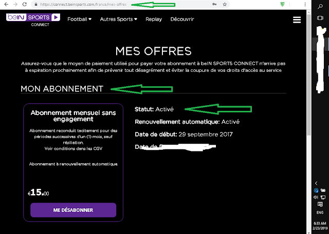 BeIN Sports Premium Email and Password 2019