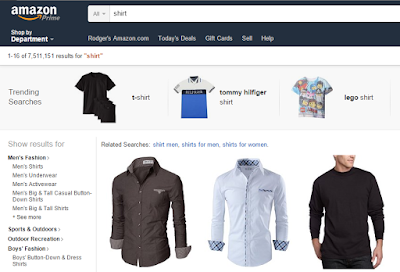 Amazon Shirt Search using DuckDuckGo !Bang
