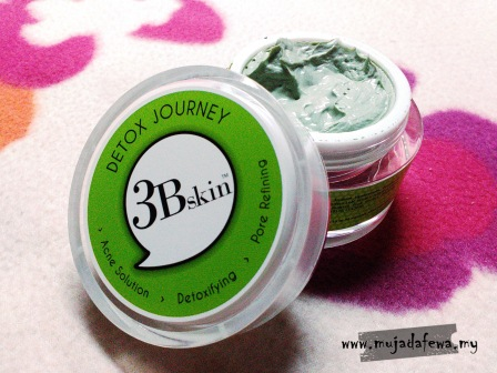 3bskin, detox journey, 3bskin green face mask, cara rawat jerawat, face mask cara detox muka, cara kecilkan pori