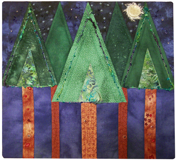 For Quilts Sake: My Love is a Pine Tree Art Quilt - Project Quilting : pine tree quilts - Adamdwight.com