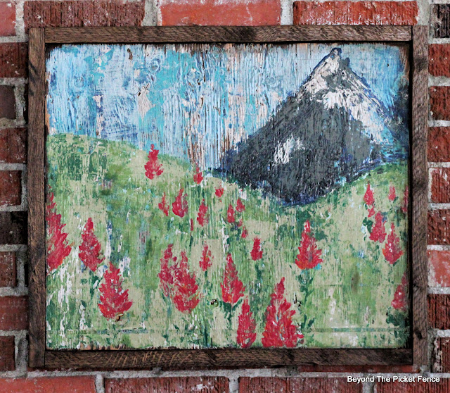 Rustic Indian Paintbrush Painting