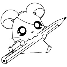 Printable Hamster Coloring Picture For Kids