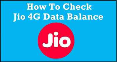 Jio Data Balance Check