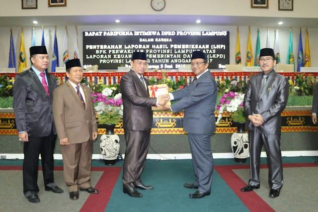 DPRD Lampung Apresiasi Raihan WTP Pemprov