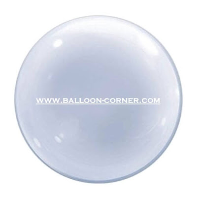 Qualatex 24 Inch Deco Bubble Balloon / Balon Transparan / Balon Bubble 24 Inchi Qualatex