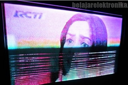 Cara Memperbaiki TV LCD Toshiba Bergaris Horizontal Tehnisikecil.com