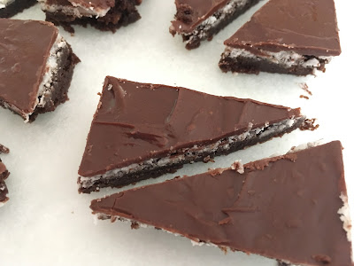 GF mint chocolate brownies
