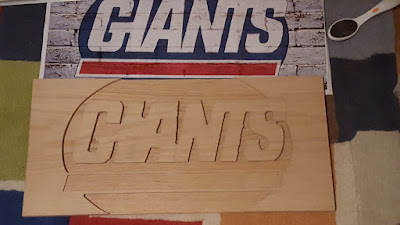 Custom Hand Routed Giants Team Logo