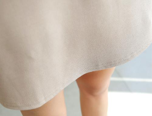 Half Button Up A-Line Dress