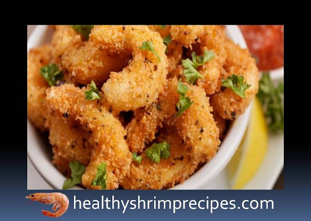 Crispy baked breaded shrimp