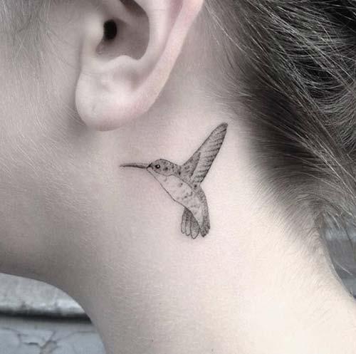 kulak arkası kuş dövmesi ear back bird tattoo