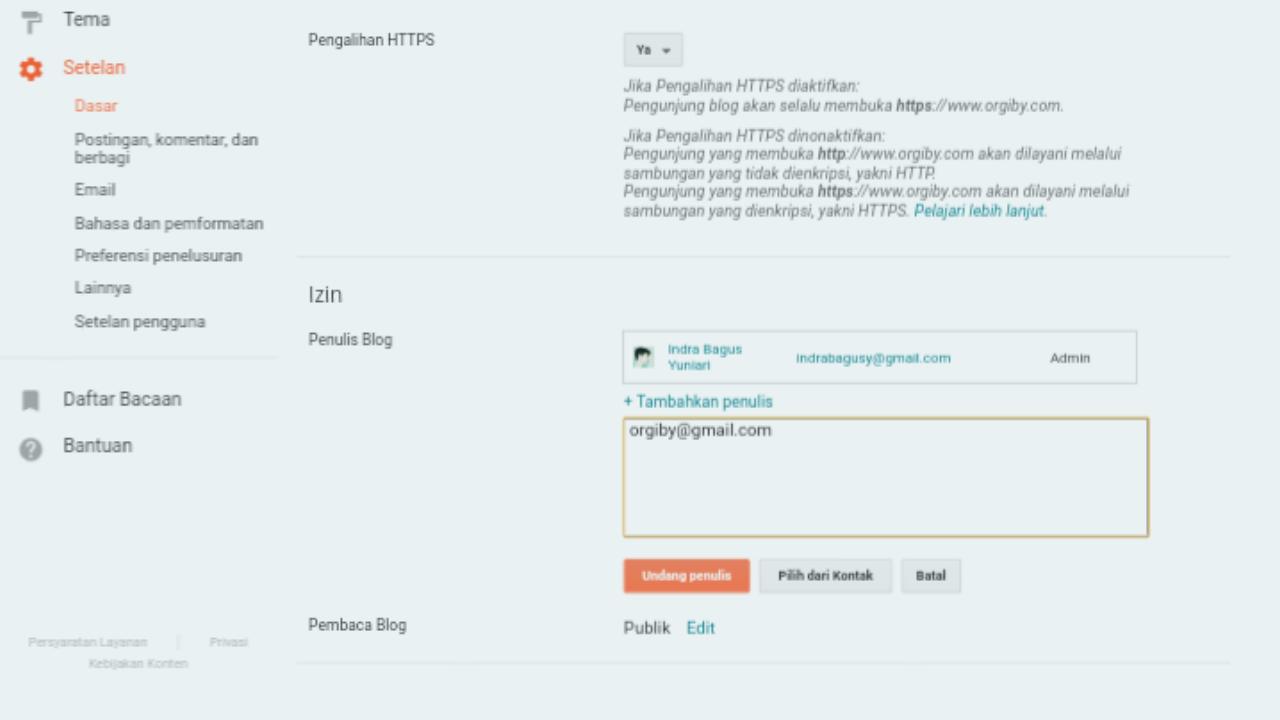 Cara Undang Email Sendiri Jadi Penulis Tamu Blogger Lewat Chrome Android