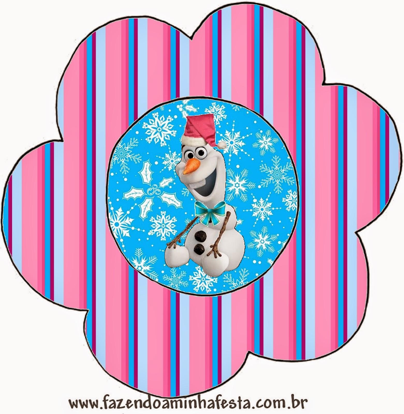 Tarjeta con forma de Flor de Frozen de Navidad.