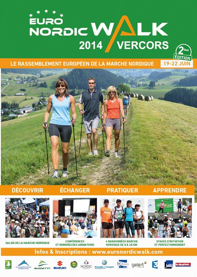 Euronordicwalk Vercors 2014 affiche