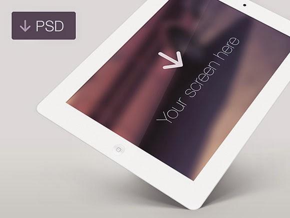 Free iPad White PSD