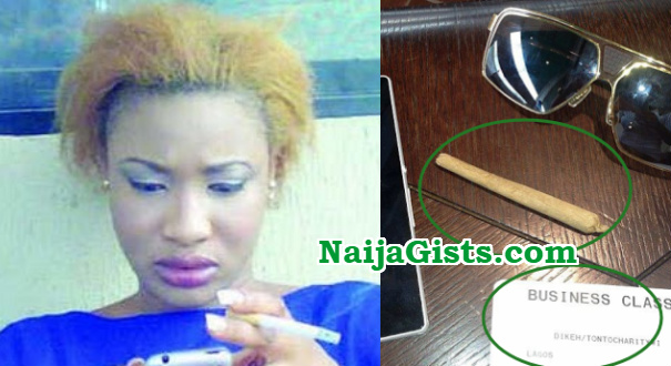 Image result for tonto dikeh smoking