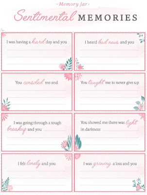 Mother's Day Memory Jar (with Personal Creations), free printables