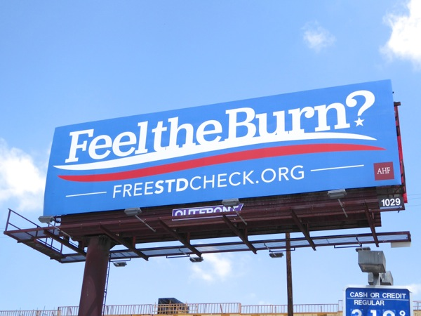 Feel the Burn STD Bernie Sanders parody billboard