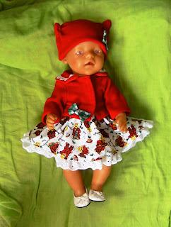 Doll's Xmas dress