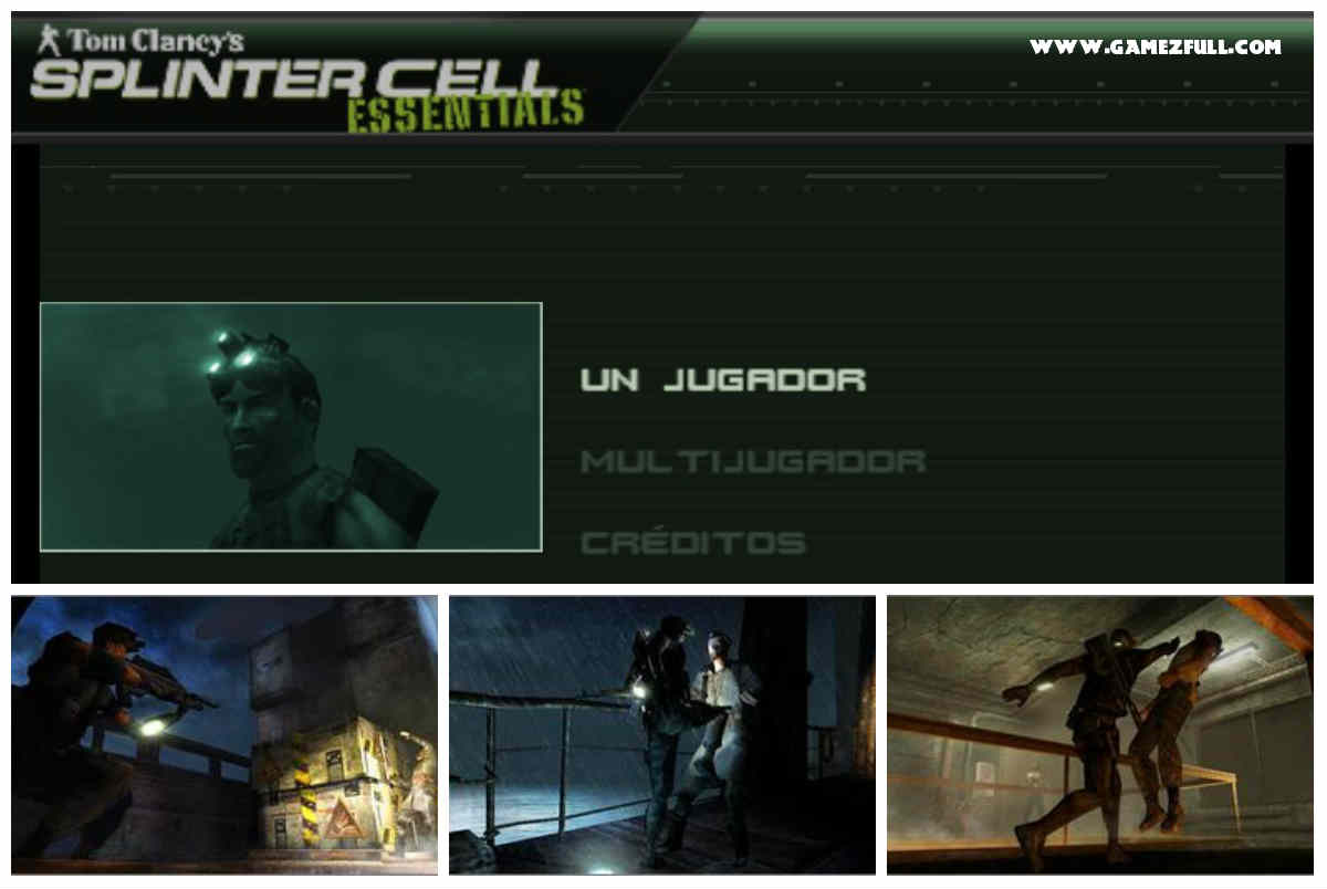 Capturas splinter cell essentials psp