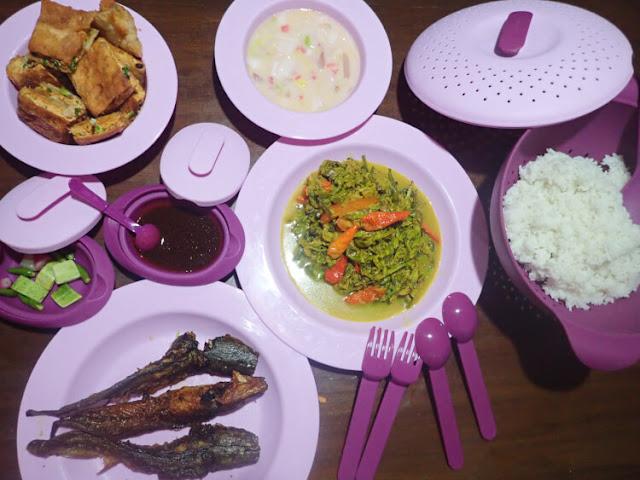 medina amethyst colander dining set, peralatan makan medina