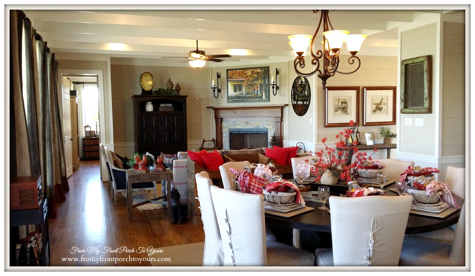 Texas Farmhouse Living Room-RoundTop Texas-Trendmaker Homes-From My Front Porch To Yours