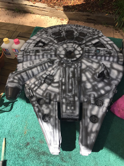 Scale model of Star Wars Millennium Falcon