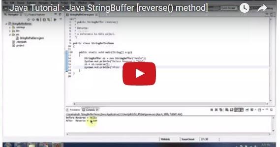 Java ee java tutorial java stringbuffer reverse method for Pool design pattern java