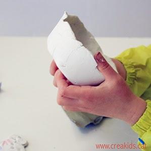 CreaKids: cuencos con pasta de secado al aire