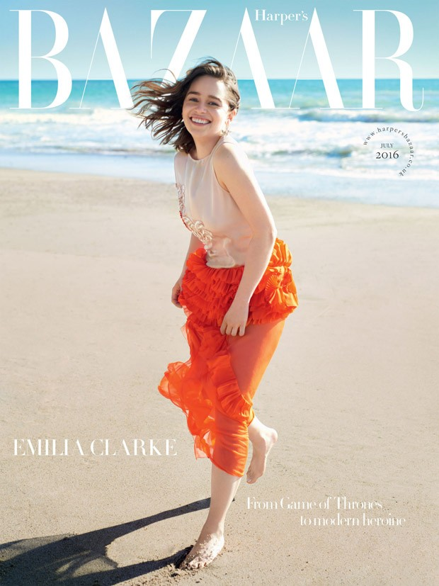 Emilia Clarke is stunning for Harper's Bazaar UK July 2016