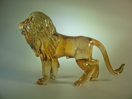 Amber Glass Lion.