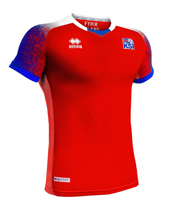 b9859657247 Iceland 2018 World Cup Goalkeeper Kit. This picture shows the red Iceland  2018 goalkeeper jersey. +1. 2 of 2