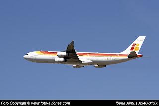 AVIÓN AIRBUS A340 EC-GUQ