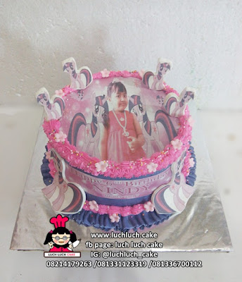 Edible Image Cake Hello Kitty dan My Little Pony